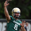 "Nick Hirschman throws passes during practice on Friday.<br /> For more photos of CU football, go to  <a href=""http://www.dailycamera.com"">http://www.dailycamera.com</a>.<br /> Cliff Grassmick / August 26, 2011"