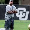"Head coach Jon Embree during practice on Friday, August 26, 2011.<br /> For more photos of CU football, go to  <a href=""http://www.dailycamera.com"">http://www.dailycamera.com</a>.<br /> Cliff Grassmick / August 26, 2011"
