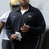 "Head CU football coach, Jon Embree, during day 2 of Spring drills.<br /> For more photos and videos, go to  <a href=""http://www.dailycamera.com"">http://www.dailycamera.com</a>.<br /> Cliff Grassmick/ March 12, 2011"