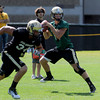 "QB John Schrock works in practice on Wednesday.<br /> For more photos and a video from CU football today, go to  <a href=""http://www.dailycamera.com"">http://www.dailycamera.com</a>.<br /> Cliff Grassmick / August 17, 2011"