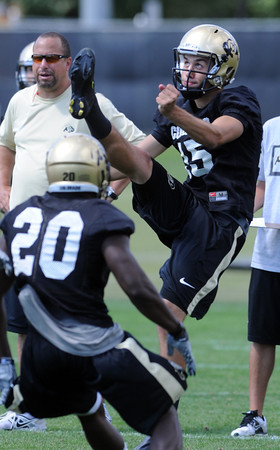 "Zach Grossnickle puts in practice on Wednesday.<br />  For more photos and a video from CU football today, go to  <a href=""http://www.dailycamera.com"">http://www.dailycamera.com</a>.<br /> Cliff Grassmick / August 17, 2011"