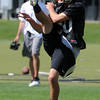 """Darragh O'Neill punts on Thursday.<br /> For a video and photos of today's practice, go to  <a href=""""http://www.dailycamera.com"""">http://www.dailycamera.com</a>.<br /> Cliff Grassmick / August 18, 2011"""