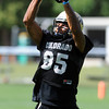 "DaVaughn Thornton catches a pass during drills on Thursday.<br /> For a video and photos of today's practice, go to  <a href=""http://www.dailycamera.com"">http://www.dailycamera.com</a>.<br /> Cliff Grassmick / August 18, 2011"