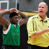 """University of Colorado Head Basketball Coach Tad Boyle yells at his team on Friday, Oct. 14, during the first CU Men's basketball practice at the Coors Event Center on the CU campus in Boulder. For more photos of the practice go to  <a href=""""http://www.dailycamera.com"""">http://www.dailycamera.com</a><br /> Jeremy Papasso/ Camera"""