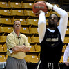 "Colorado head coach, Tad Boyle, watches practice on Friday, March 25, 2011<br /> The University of Colorado's men's basketball team is preparing for the NIT Final 4 in New York.  For videos of players and coach Boyle, go to  <a href=""http://www.dailycamera.com"">http://www.dailycamera.com</a>.<br /> Cliff Grassmick/ March 25, 2011"