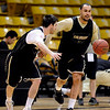 "Marcus Relphorde dribbles around Nate Tomlinson during practice on Friday.<br /> The University of Colorado's men's basketball team is preparing for the NIT Final 4 in New York.  For videos of players and coach Boyle, go to  <a href=""http://www.dailycamera.com"">http://www.dailycamera.com</a>.<br /> Cliff Grassmick/ March 25, 2011"