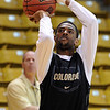 "Cory Higgins shoots at CU practice on Friday.<br /> The University of Colorado's men's basketball team is preparing for the NIT Final 4 in New York.  For videos of players and coach Boyle, go to  <a href=""http://www.dailycamera.com"">http://www.dailycamera.com</a>.<br /> Cliff Grassmick/ March 25, 2011"