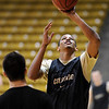 "Andre Roberson  shoots at CU practice on Friday.<br /> The University of Colorado's men's basketball team is preparing for the NIT Final 4 in New York.  For videos of players and coach Boyle, go to  <a href=""http://www.dailycamera.com"">http://www.dailycamera.com</a>.<br /> Cliff Grassmick/ March 25, 2011"