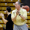 "Colorado head coach, Tad Boyle, works practice on Friday, March 25, 2011.<br /> The University of Colorado's men's basketball team is preparing for the NIT Final 4 in New York.  For videos of players and coach Boyle, go to  <a href=""http://www.dailycamera.com"">http://www.dailycamera.com</a>.<br /> Cliff Grassmick/ March 25, 2011"
