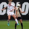 "Brandi Dawson, left, of OSU,  and Quinn Krier of CU, go up  to control the ball.<br /> For more photos from the game, go to  <a href=""http://www.dailycamera.com"">http://www.dailycamera.com</a>.<br /> Cliff Grassmick  / October 13, 2012"