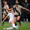 "Amy Barczuk, right, of CU, runs over Erin Uchacz of Oregon State on Saturday.<br /> For more photos from the game, go to  <a href=""http://www.dailycamera.com"">http://www.dailycamera.com</a>.<br /> Cliff Grassmick  / October 13, 2012"