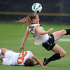 "Hayley Hughes, right, of CU, goes to the ball past Brittany Oljar of Oregon State on Saturday.<br /> For more photos from the game, go to  <a href=""http://www.dailycamera.com"">http://www.dailycamera.com</a>.<br /> Cliff Grassmick  / October 13, 2012"