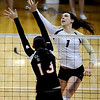 "Kelsey English of CU, gets a shot over Amanda Brown of Oregon State.<br /> For more photos of the game, go to  <a href=""http://www.dailycamera.com"">http://www.dailycamera.com</a>.<br /> Cliff Grassmick / October 28, 2012"