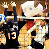 "Neira Ortiz Ruiz of CU hits past Amanda Brown of Oregon State.<br /> For more photos of the game, go to  <a href=""http://www.dailycamera.com"">http://www.dailycamera.com</a>.<br /> Cliff Grassmick / October 28, 2012"