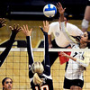 "Neira Ortiz Ruiz of CU hits past Megan McBride (10) of Oregon State.<br /> For more photos of the game, go to  <a href=""http://www.dailycamera.com"">http://www.dailycamera.com</a>.<br /> Cliff Grassmick / October 28, 2012"