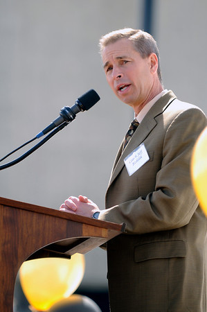 "CU men's Basketball coach Jeff Bzdelik speaks at the groundbreaking event for the new Coors Events Center practice facility on March 25, 2010. See the groundbreaking in action at  <a href=""http://www.dailycamera.com"">http://www.dailycamera.com</a><br /> Stephen Swofford/ For The Camera"
