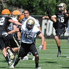 "Punter Zach Grossnickle, 15, during the University of Colorado Football team practice on Friday August 12, 2011.<br /> For more photos and video interviews from the practice go to  <a href=""http://www.buffzone.com"">http://www.buffzone.com</a> and dailycamera.com<br /> Photo by Paul Aiken  August 12,  2011."