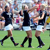 "Olivia Pappalardo, left, and Shaye Marshall, right, congratulate Anne Stuller on her goal against WSU.<br /> For more photos of the game, go to  <a href=""http://www.dailycamera.com"">http://www.dailycamera.com</a>.<br /> Cliff Grassmick  / August 26, 2012"