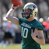 "Quarterback Isaac Archuleta works out during the first CU Spring practice on Saturday.<br /> For more photos and videos of practice, go to  <a href=""http://www.dailycamera.com"">http://www.dailycamera.com</a>.<br /> Cliff Grassmick / March 10, 2012"