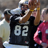 "Jarrod Darden catches a ball during Spring drills.<br /> For more photos and videos of practice, go to  <a href=""http://www.dailycamera.com"">http://www.dailycamera.com</a>.<br /> Cliff Grassmick / March 10, 2012"