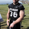 "Clay Norgard talks to the media after the first CU Spring practice.<br /> For more photos and videos of practice, go to  <a href=""http://www.dailycamera.com"">http://www.dailycamera.com</a>.<br /> Cliff Grassmick / March 10, 2012"