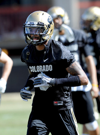 "Paul Richardson works out during Spring drills.<br /> For more photos and videos of practice, go to  <a href=""http://www.dailycamera.com"">http://www.dailycamera.com</a>.<br /> Cliff Grassmick / March 10, 2012"