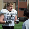 "Will Pericak goes on camera after practice on Sunday.<br /> For more photos and videos of CU football, go to  <a href=""http://www.dailycamera.com"">http://www.dailycamera.com</a>.<br /> Cliff Grassmick / March 18, 2012"
