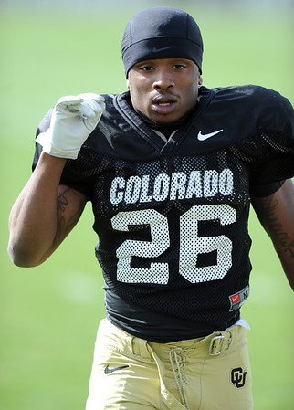 "Tony Jones gets ready for Spring practice on Sunday.<br /> For more photos and videos of CU football, go to  <a href=""http://www.dailycamera.com"">http://www.dailycamera.com</a>.<br /> Cliff Grassmick / March 18, 2012"