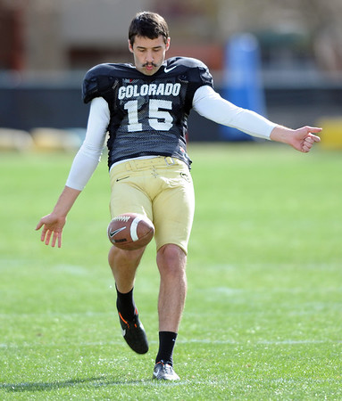"Zach Grossnickle during Spring drills on Sunday.<br /> For more photos and videos of CU football, go to  <a href=""http://www.dailycamera.com"">http://www.dailycamera.com</a>.<br /> Cliff Grassmick / March 18, 2012"