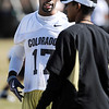 "Toney Clemons  and Robert Prince during spring practice.<br /> For more football photos, go to photo galleries at  <a href=""http://www.dailycamera.com"">http://www.dailycamera.com</a>.<br /> Cliff Grassmick / March 6, 2010"