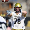 """Nate Solder during CU spring drills on Saturday.<br /> For more football photos, go to photo galleries at  <a href=""""http://www.dailycamera.com"""">http://www.dailycamera.com</a>.<br /> Cliff Grassmick / March 6, 2010"""