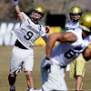 "CU QB Tyler Hansen during CU spring drills on Saturday.<br /> For more football photos, go to photo galleries at  <a href=""http://www.dailycamera.com"">http://www.dailycamera.com</a>.<br /> Cliff Grassmick / March 6, 2010"