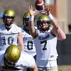 "Cody Hawkins during CU spring drills on Saturday.<br /> For more football photos, go to photo galleries at  <a href=""http://www.dailycamera.com"">http://www.dailycamera.com</a>.<br /> Cliff Grassmick / March 6, 2010"