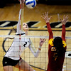 "Ana Pantovic  of CU hits against  USC on Saturday night.<br /> For more photos of the game, go to  <a href=""http://www.dailycamera.com"">http://www.dailycamera.com</a>.<br /> Cliff Grassmick / November 10, 2012"