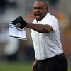 "CU head coach, Jon Embree is upset with a no call of a block in the back that enabled Utah to score a touchdown.<br /> For more photos of the CU game, go to  <a href=""http://www.dailycamera.com"">http://www.dailycamera.com</a><br /> Cliff Grassmick / November 23, 2012"