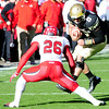 112312 CU football0088.JPG University of Colorado's Nick Hirschman (8) runs towards Ryan Lacy (26) during their game against Utah on Folsom Field in Boulder on Friday Nov. 23, 2012. DAILY CAMERA/ JESSICA CUNEO.