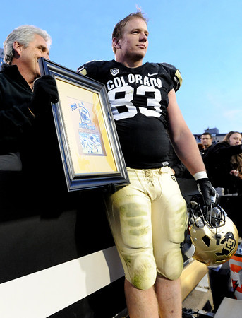 "Will Pericak of CU wins the Buffalo Heart Award for the 2012 season.<br /> For more photos of the CU game, go to  <a href=""http://www.dailycamera.com"">http://www.dailycamera.com</a><br /> Cliff Grassmick / November 23, 2012"