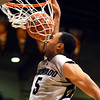 Colorado's Marcus Relphorde slams the ball though the net against Colorado Christian during their basketball game at the University of Colorado in Boulder, Colorado December 7, 2009.  CAMERA/Mark Leffingwell