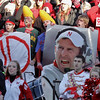 Nebraska fans hold up a poster of Nebraska head coach Bo Pelini, prior to an NCAA college football game against Colorado, in Lincoln, Neb., Friday, Nov. 26, 2010. (AP Photo/Nati Harnik)