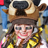 COLORADO VS. NEBRASKA, LINCOLN, NEB -11/26/2010 - Colorado fan Mackenzie Jones, 6, Broomfiled, Col., wears a buffalo hat outside Memorial Stadium, Friday, November 26, 2010.  (GWYNETH ROBERTS/Lincoln Journal Star)