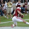 Stanford fullback Ryan Hewitt (85) scores against Colorado in the second quarter of an NCAA college football game in Stanford, Calif., Saturday, Oct. 8, 2011. (AP Photo/Paul Sakuma)