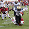 Colorado running back Tony Jones (26) scores against Stanford in the second quarter of an NCAA college football game in Stanford, Calif., Saturday, Oct. 8, 2011. (AP Photo/Paul Sakuma)