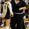 "CU coach Liz Kritza talks to Alyssa Valentine in the UNC game.<br /> For more photos of the game, go to  <a href=""http://www.dailycamera.com"">http://www.dailycamera.com</a>.<br />  Cliff Grassmick / August 28, 2011"