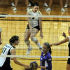 Hannah Walker (5) gets even more excited than her Colorado teammates against Furman.<br /> Cliff Grassmick / August 27, 2010