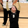 "University of Colorado's Alyssa Valentine on Saturday, Aug. 20, during volleyball practice at the Coors Event Center on the CU campus in Boulder. For more photos of practice go to  <a href=""http://www.dailycamera.com"">http://www.dailycamera.com</a><br /> Jeremy Papasso/ Camera"