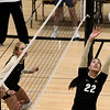 "University of Colorado's Erin Stock hits the ball to a teammate on Saturday, Aug. 20, during volleyball practice at the Coors Event Center on the CU campus in Boulder. For more photos of practice go to  <a href=""http://www.dailycamera.com"">http://www.dailycamera.com</a><br /> Jeremy Papasso/ Camera"