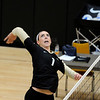 "University of Colorado's Kelsey English on Saturday, Aug. 20, during volleyball practice at the Coors Event Center on the CU campus in Boulder. For more photos of practice go to  <a href=""http://www.dailycamera.com"">http://www.dailycamera.com</a><br /> Jeremy Papasso/ Camera"