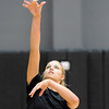 "University of Colorado's Nikki Lindow practices her spike on Saturday, Aug. 20, during volleyball practice at the Coors Event Center on the CU campus in Boulder. For more photos of practice go to  <a href=""http://www.dailycamera.com"">http://www.dailycamera.com</a><br /> Jeremy Papasso/ Camera"