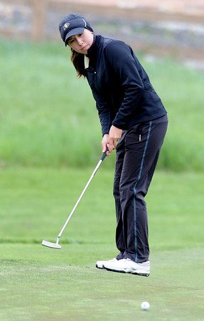 "Jessica Wallace of CUwatches her putt at hole 16 during the 3rd round of the West Regional.<br /> For more photos of the 3rd round, go to  <a href=""http://www.dailycamera.com"">http://www.dailycamera.com</a>.<br /> Cliff Grassmick / May 12, 2012"