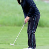 """Jessica Wallace of CUwatches her putt at hole 16 during the 3rd round of the West Regional.<br /> For more photos of the 3rd round, go to  <a href=""""http://www.dailycamera.com"""">http://www.dailycamera.com</a>.<br /> Cliff Grassmick / May 12, 2012"""